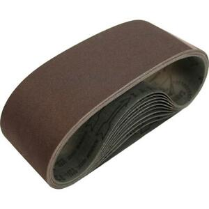 """Makita 742308-3 3"""" x 21"""" 80 Grit Aluminum Oxide Abrasive Sanding Belt 10-Pack"""