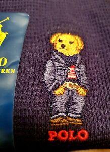 Polo Ralph Lauren Men polo bear Waffle knit Sleepwear L/S shirt Blue Sz M NWT