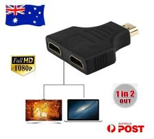 HDMI Male to Dual Female Splitter Adapter Connector For HDTV 4K Full HD 3D OZ AU