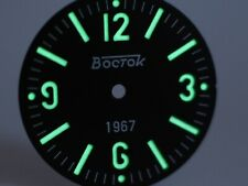 Sandwich Superlumia Dial for Vostok Amphibian Komandirskie for Black Bezel