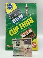 RARE Manchester United v Brighton 1983 FA Cup Final Programme + Ticket WEMBLEY