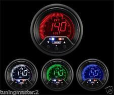 Manometro Strumento PROSPORT 52mm Voltmetro 8-18 VOLT Allarme Picco 4colori
