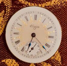 Elgin Pocket Watch Grade 320, Mvmt/Dial 0 Sz, 7j, Runs! Beautiful Dial!