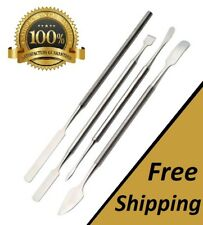 4 PC Stainless Steel Spatula Set Dental Picks Lab Tools Wax Carving