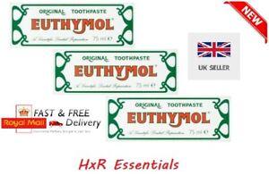 3 x Euthymol Original Toothpaste 75ml