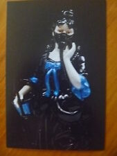 """POSTCARD..""""LIFE IS A RIOT""""...SIDNEY MYER FUND CERAMIC AWARD..WOMAN WITH GAS MASK"""