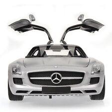MINICHAMPS MERCEDES SLS AMG Silver w/Black interior 1:18*REAL DIECAST*New Item!!
