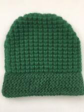 Reiss Green Wool Thick Winter Hat Size S