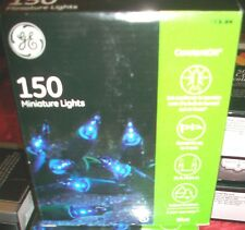 Ge 150 Ct Blue Christmas Miniture Light Set