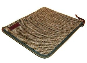 $125 Polo Ralph Lauren Tablet Wool Tweed Zip Gadget Document Case Sleeve Brown