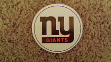 "VERY RARE NEW YORK GIANTS VINTAGE NFL STICKER FROM 1970'S 3"" diameter Fasson"
