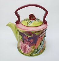 Tracy Porter Teapot The Citrine Collection Hand Painted Floral Multi-Color