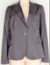 womyn jacket coat NWT SZ 8 dark brown 1-button closure lined NYC USA new