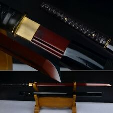 Leather Handle Full Tang Blade Japanese Samurai Sword High Carbon Steel Katana