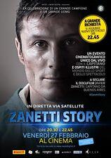 POSTER JAVIER ZANETTI STORY INTER CAPITANO SOCCER FOOTBALL CALCIO LOCANDINA #1