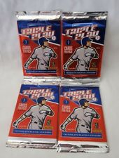 2012 Panini Triple Play Baseball Card Packs - Lot of 4 - Sealed