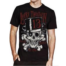 Lucky 13 Herr Schadel Skull Bones Spade Rock Tattoo Rockabilly Shirt 4Xl Xxxxl