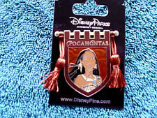 Disney * PRINCESS POCAHONTAS * Tapestry Banner Series * New on Card Trading Pin