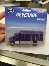 New Boley International Beverage Truck Blue Item #4513-22 Ho Scale Die-cast