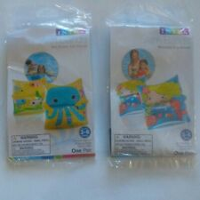 Lot Of 2 Intex Kids Inflatable Arm Bands Mermaid Sea Child Swimming Pool Float