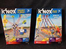 K'Nex Building Toys Octopus Ride & Pirate Ship Euc