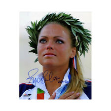 Jennie Finch signed 2004 Olympic Team USA 8x10 Photo w/ USA Gold Inscribed