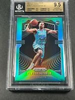 PJ WASHINGTON 2019 PANINI PRIZM #256 GREEN REFRACTOR ROOKIE RC ALL BGS 9.5 SUBS