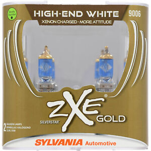 SYLVANIA 9006 SilverStar zXe GOLD High Performance Halogen Headlight, 2 Bulbs