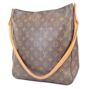 Authentic LOUIS VUITTON Looping GM Monogram Shoulder Tote Bag Purse #38952