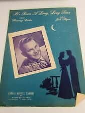 Vintage Its Been A Long Time Sammy Cahn Randy Brooks Sheet Music 31101 Piano