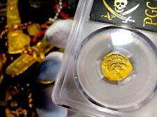 "SPAIN 1 ESCUDO 1614 ""FULL DATE"" ATOCHA ERA PCGS 45 PIRATE GOLD COINS TREASURE"