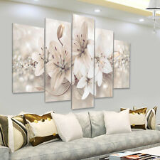5Pcs Modern Abstract Flowers Canvas Print Painting Wall Hanging Art Home  U1