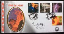 1.2.2000 Fire & Light FDC volcanoes, Edinburgh, Signed JOHN KETTLEY, Weatherman