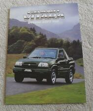 Suzuki Grand Vitara GV2000 Soft Top Brochure 1999