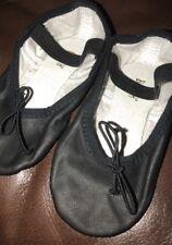Bloch Kids Ballet Shoes leather split soles, Little Girl's Size 8.5C , Black