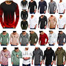 Mens Slim Fit Gym Long Sleeve T-shirt Muscle Casual Sport Jogger Tee Shirts Tops