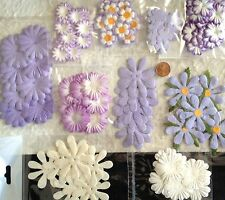 125 Flowers Lot assortment Lavender Purple petals lilac Handmade Paper flower 2