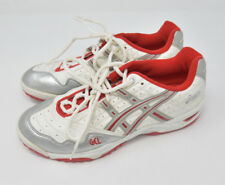Asics Men's Sz 10 Lace Up White Red Silver Athletic Running Hiking Trail Shoes