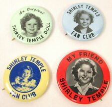 Ideal Promotional Shirley Temple Doll Pinback Button Lot (4) My Friend Fan Club