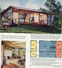 Print. 1958-9. Vacation Cabin & Plans