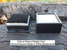 Old Rare Vintage Antique Civil War Relic Button or Coin Case Safe Keep Display.