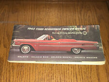 1963 Ford Galaxie 500 XL Wagons Original Factory Owners Manual