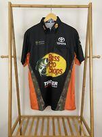 Martin Truex Jr. BASS PRO SHOPS Joe Gibbs Racing Pit Crew Team Issued Shirt Sz M