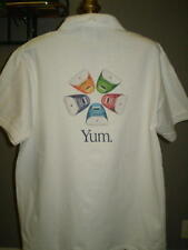 "Apple Logoed White iMac ""Yum"" Short Sleeve Polo Shirt - Medium"