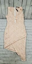 NEW Missguided Asymmetrical Sleeveless Lace BodyCon Dress WOMENS SIZE 10