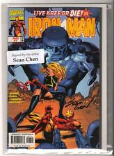 Marvel Comics Near Mint 9.6 Iron Man #7 Live Free And Die Signed Sean Chen