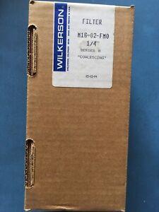 "Wilkerson M16-02-FM0 Coalescing Air Filter 1/4"" Auto Drain w/ MTP-95-548 Element"