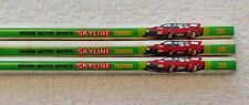 Hasemi Motor Sports Skyline Turbo Pencils by Tombow - Set of 3 - Free Shipping
