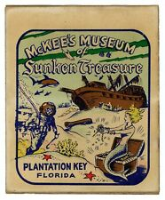 One 1 Vintage Cartoon Sticker Art McKee's Museum of Sunken Treasure ca. 1950s