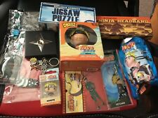 Naruto 2 BoX Set Naruto Ninja headband Anime Keychains,Poster,Patch,Shuriken